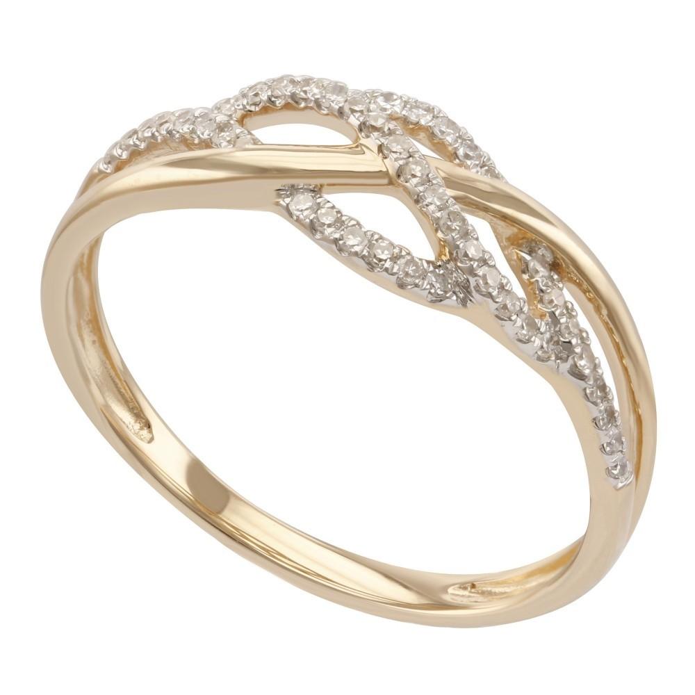 Geelgouden ring met diamant B010440-DDBR-MS