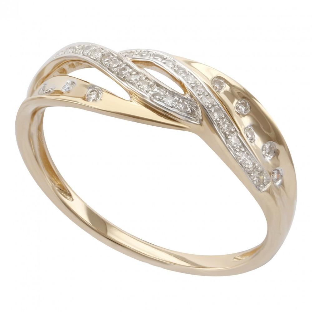 Geelgouden ring met diamant B010464-DDBR-MS