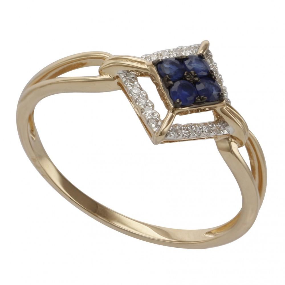 Witgouden ring met diamant B020121-DSBR-MS
