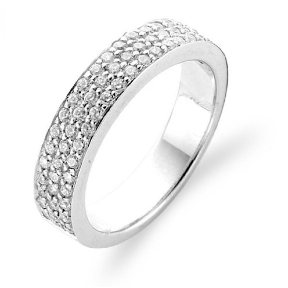 Zilveren ring met zirkonia 1401ZI