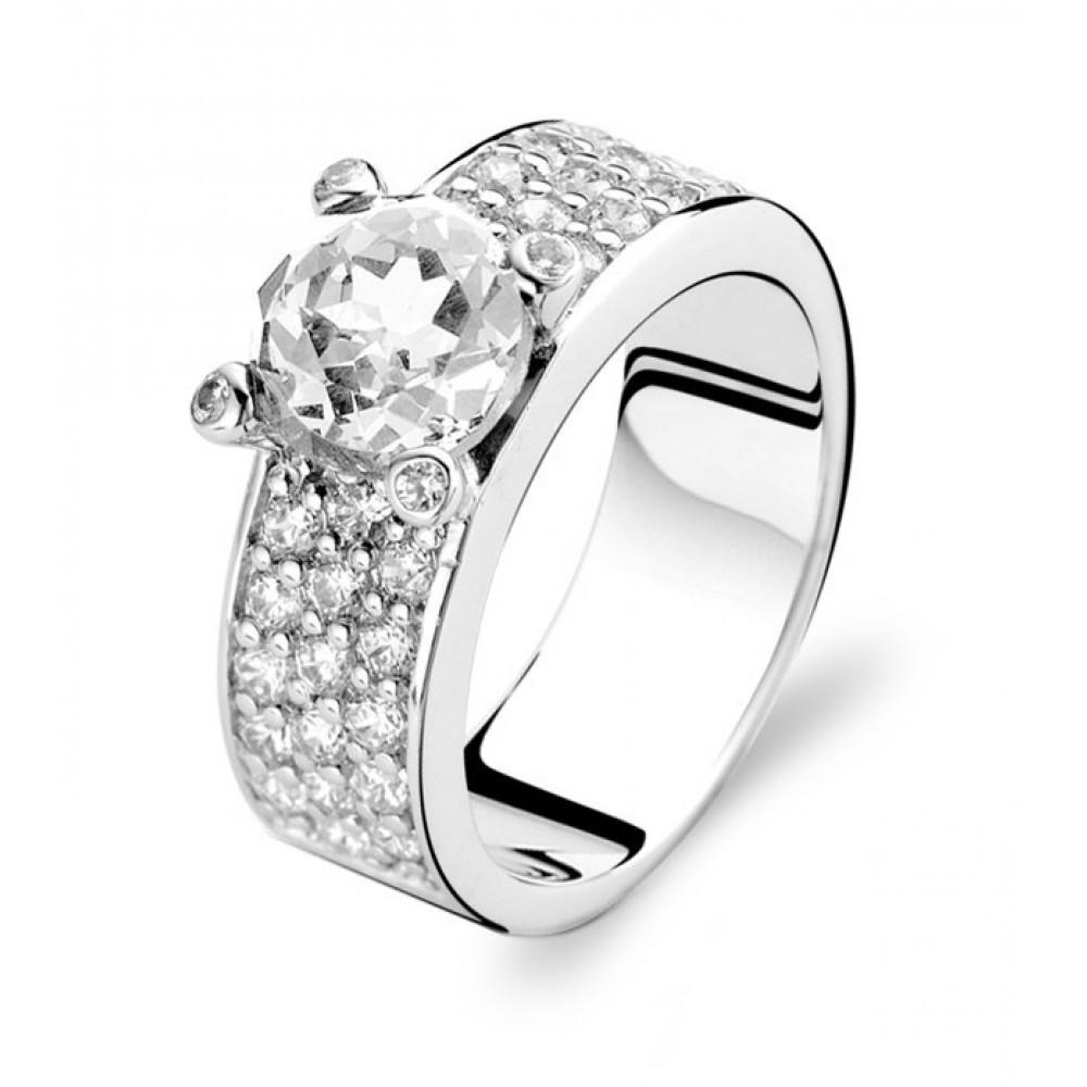 Zilveren ring met zirkonia 1493ZI