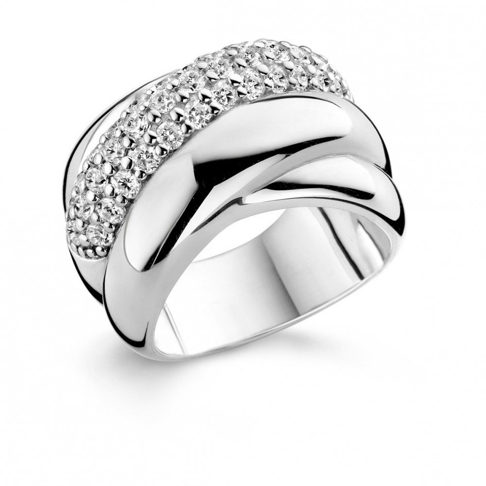 Zilveren ring met zirkonia 1642ZI