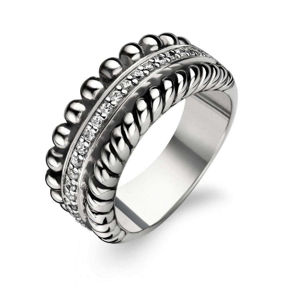 Zilveren ring met zirkonia 1836ZI