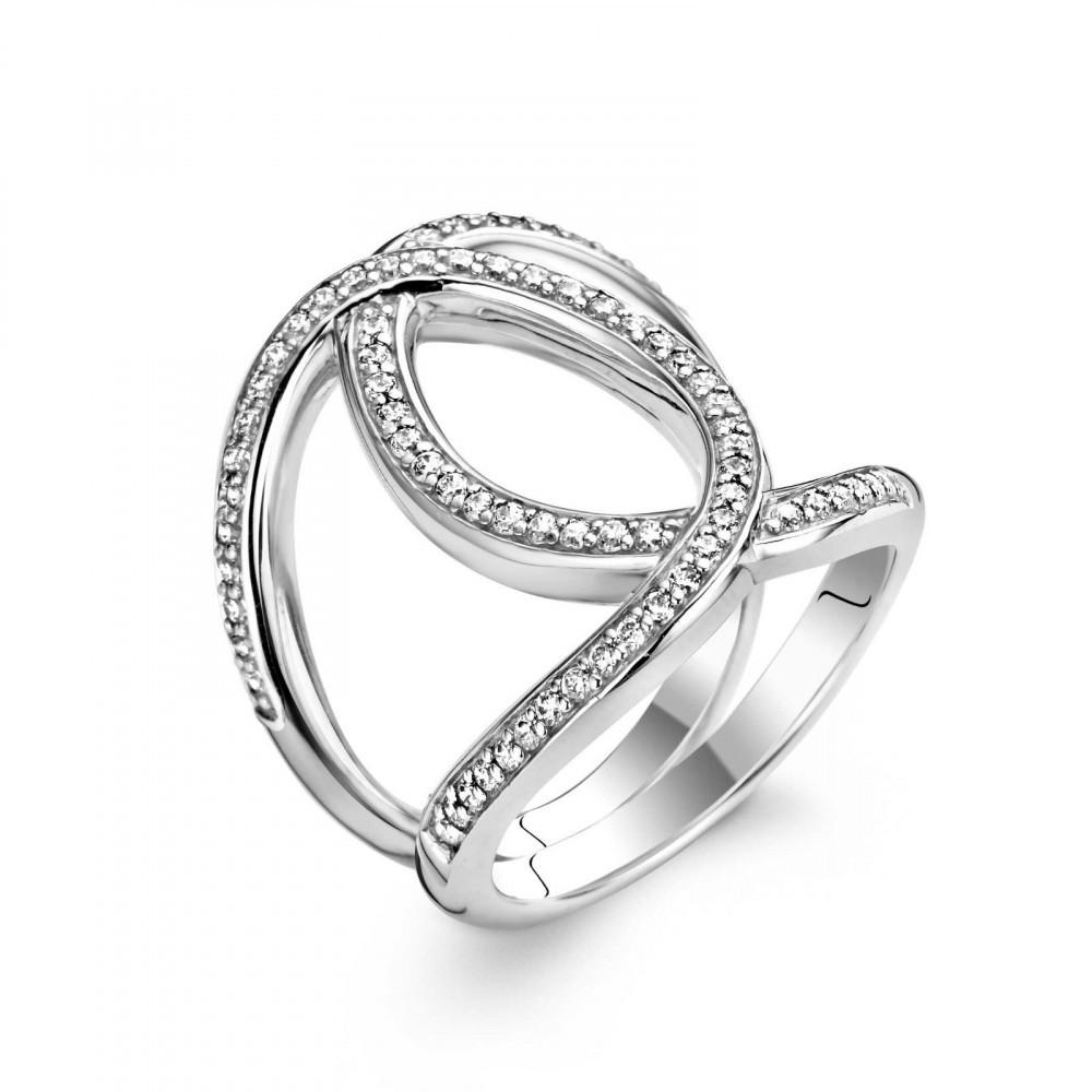 Zilveren ring met zirkonia 1955ZI