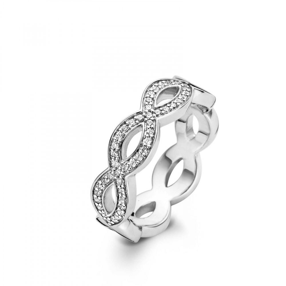 Zilveren ring met zirkonia 1962ZI