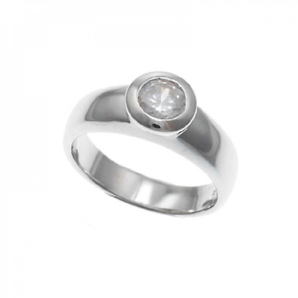 Zilveren damesring 1140241