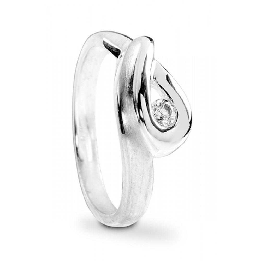 Zilveren ring met zirkonia 1146138