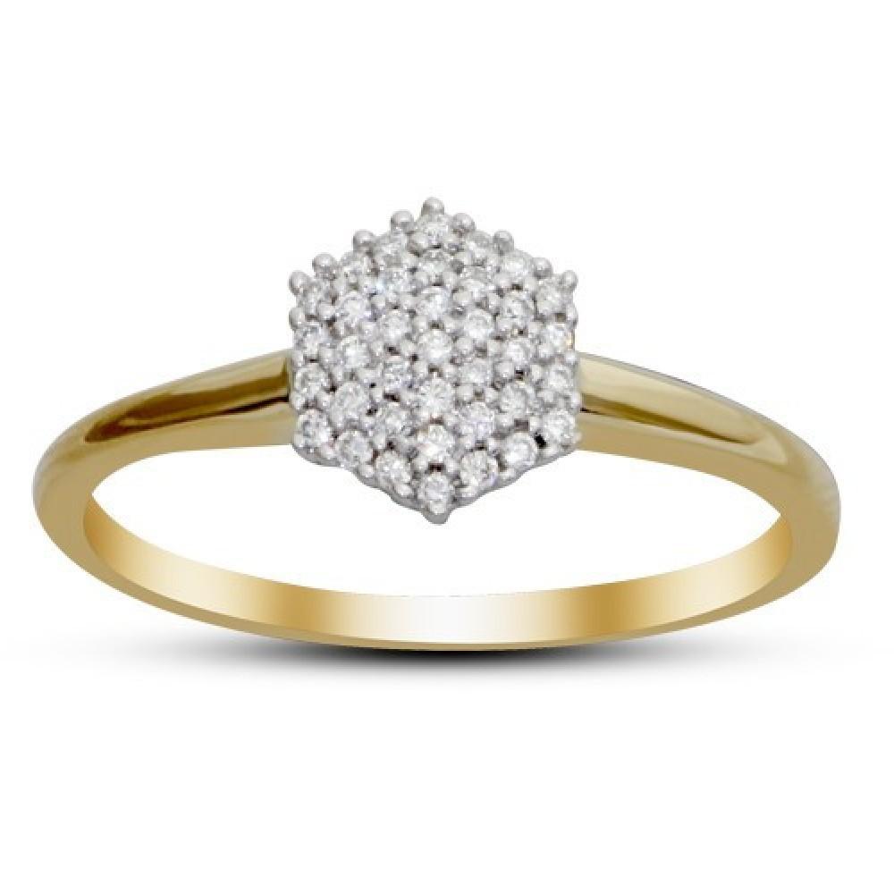 Bicolor ring gezet met diamant IGR-20629TT