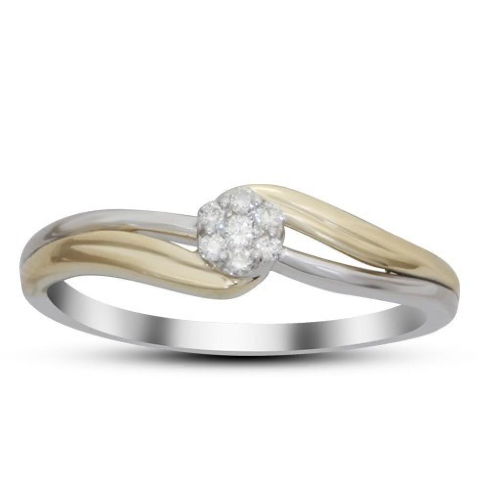 Bicolor ring gezet met diamant IGR-24344TT