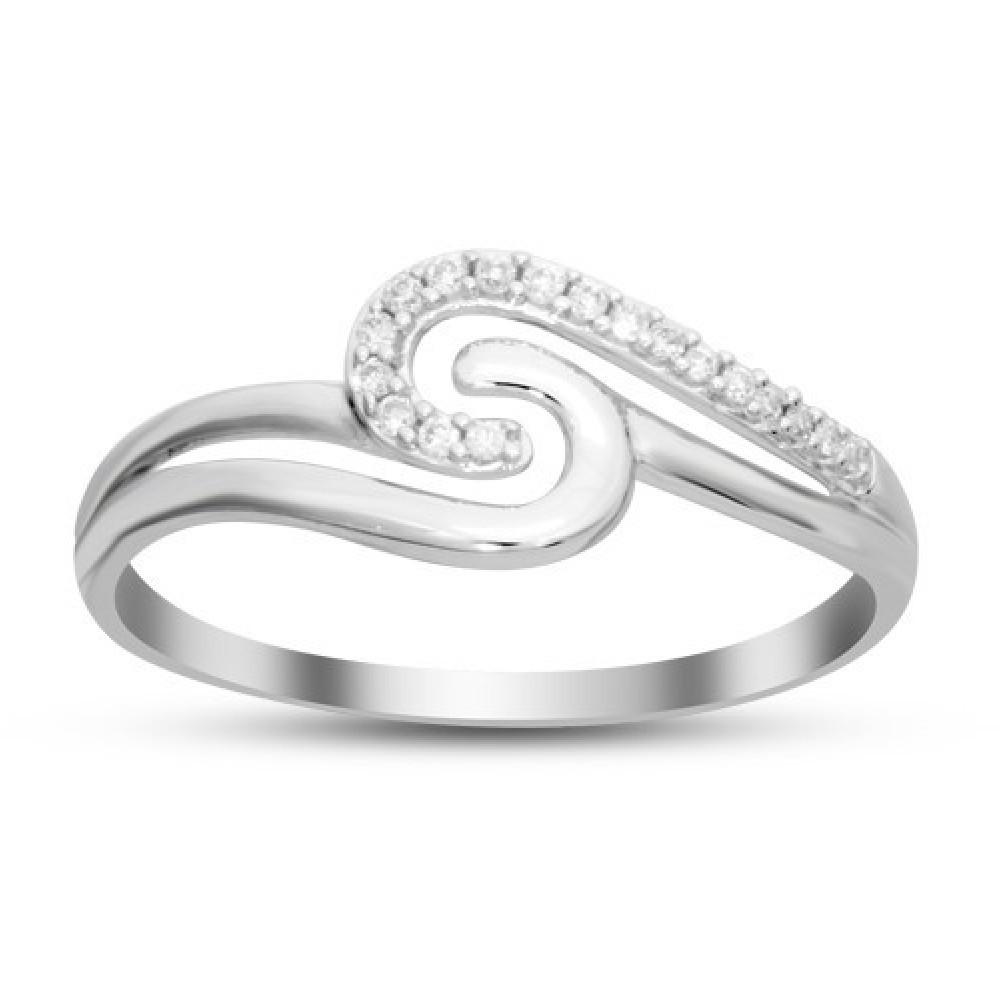 Witgouden ring gezet met diamant IGR-24488A