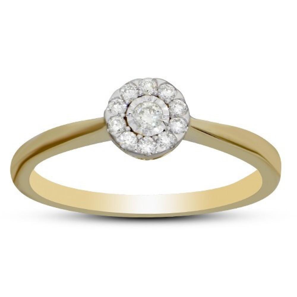 Geelgouden ring gezet met diamant IGR-25429