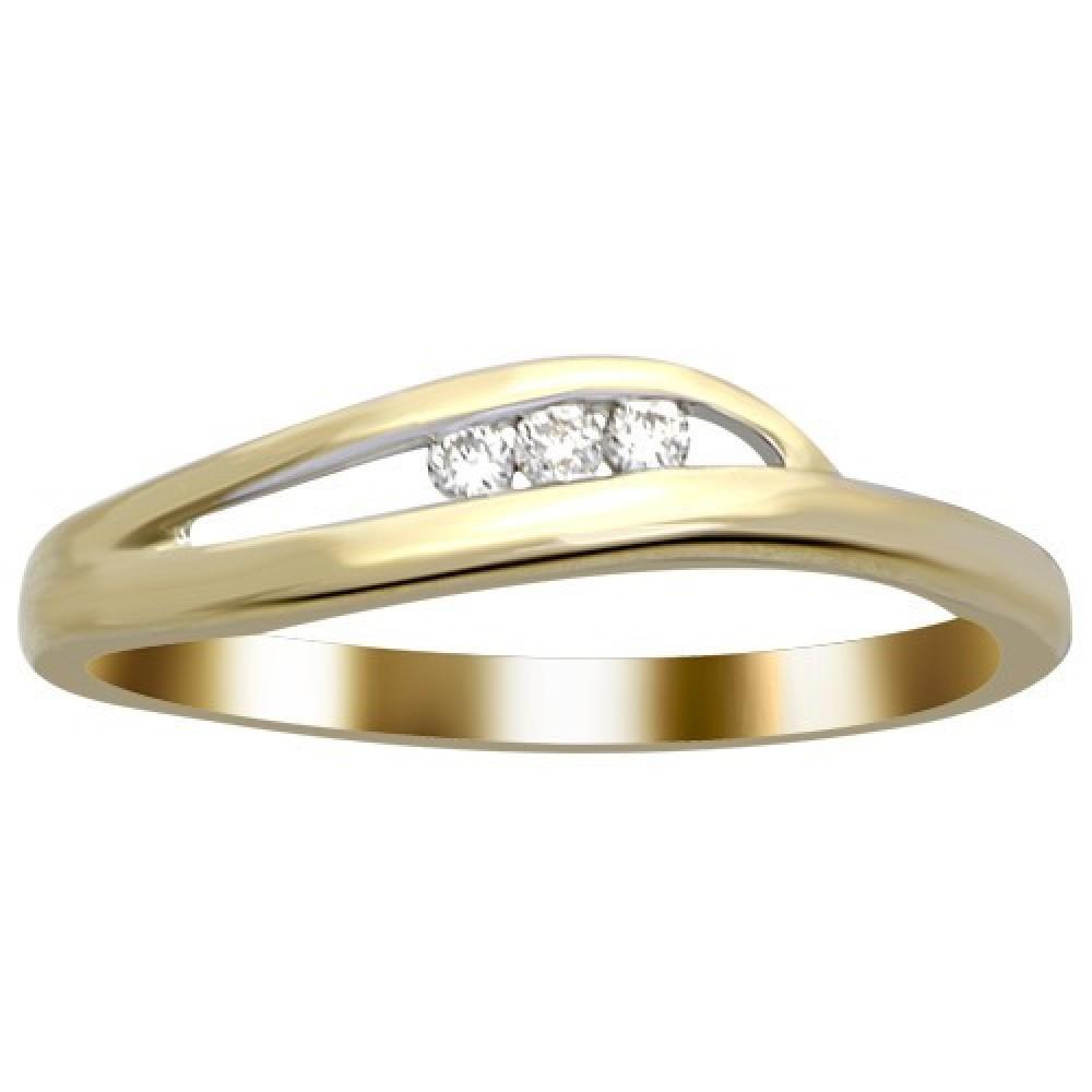 Geelgouden ring gezet met diamant IGR-26169