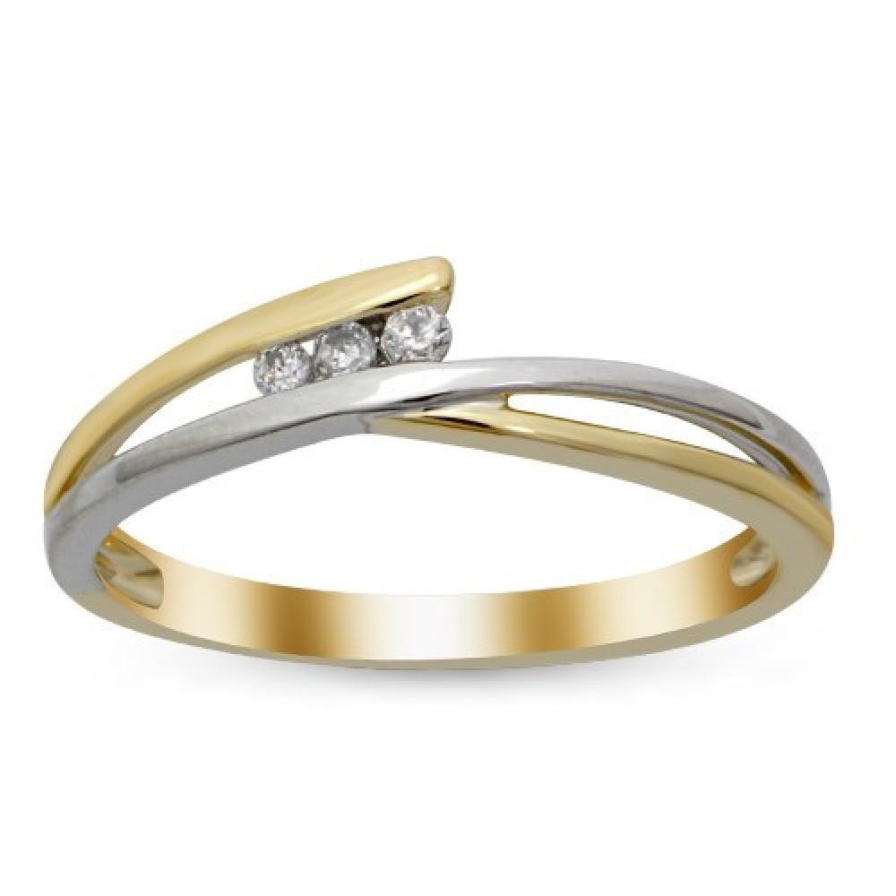 Bicolor ring gezet met diamant IGR-26247TT