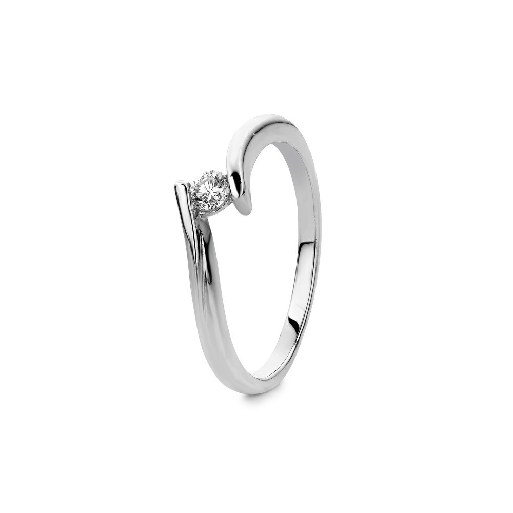 Witgouden ring met diamant SOL-W167-010-G2