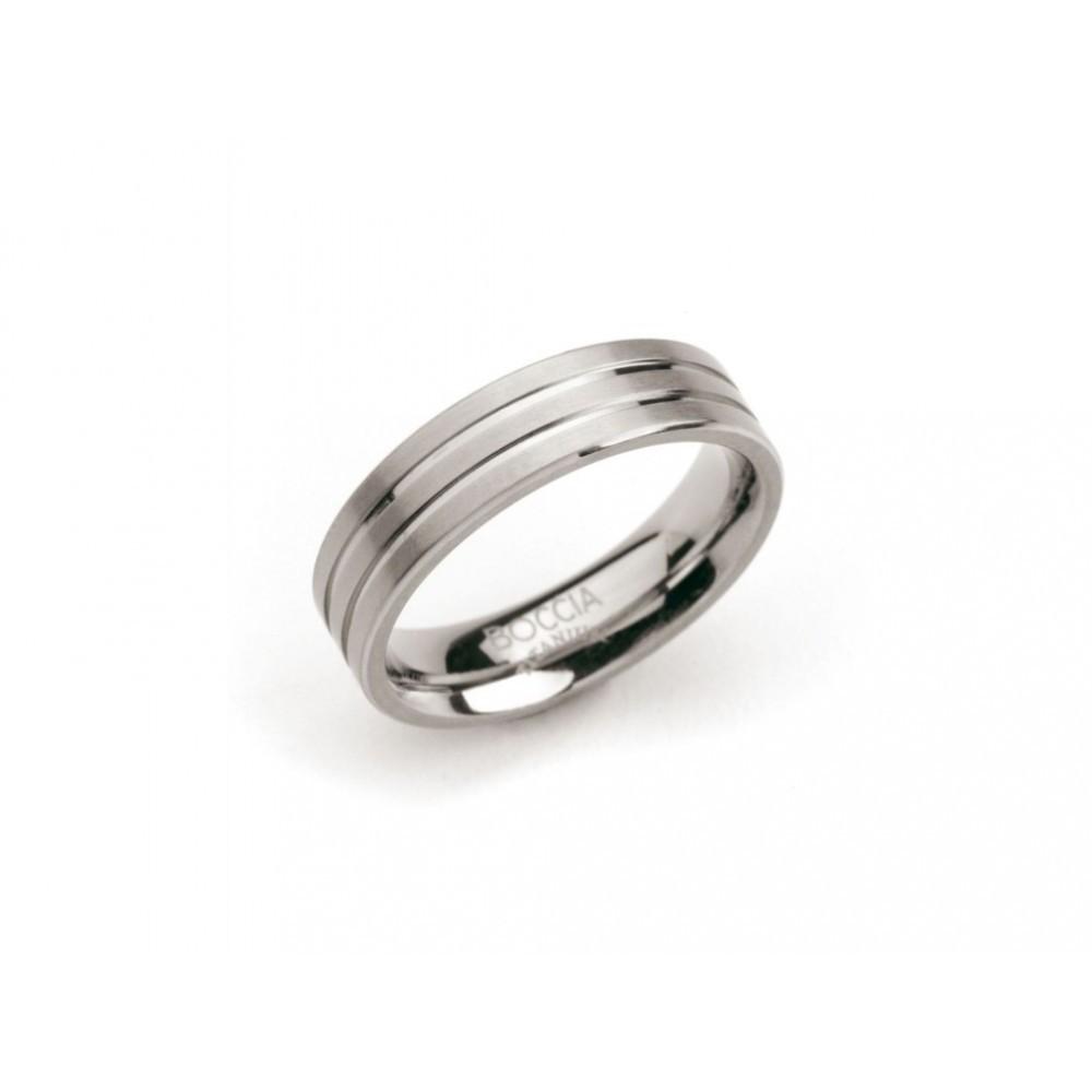 Titanium ring met banen 0101-02