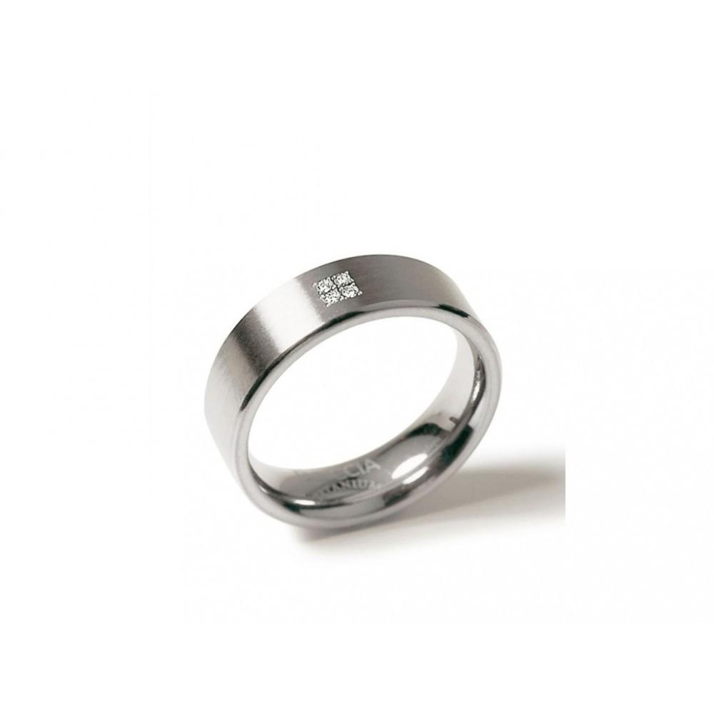 Titanium ring met diamant 0101-12