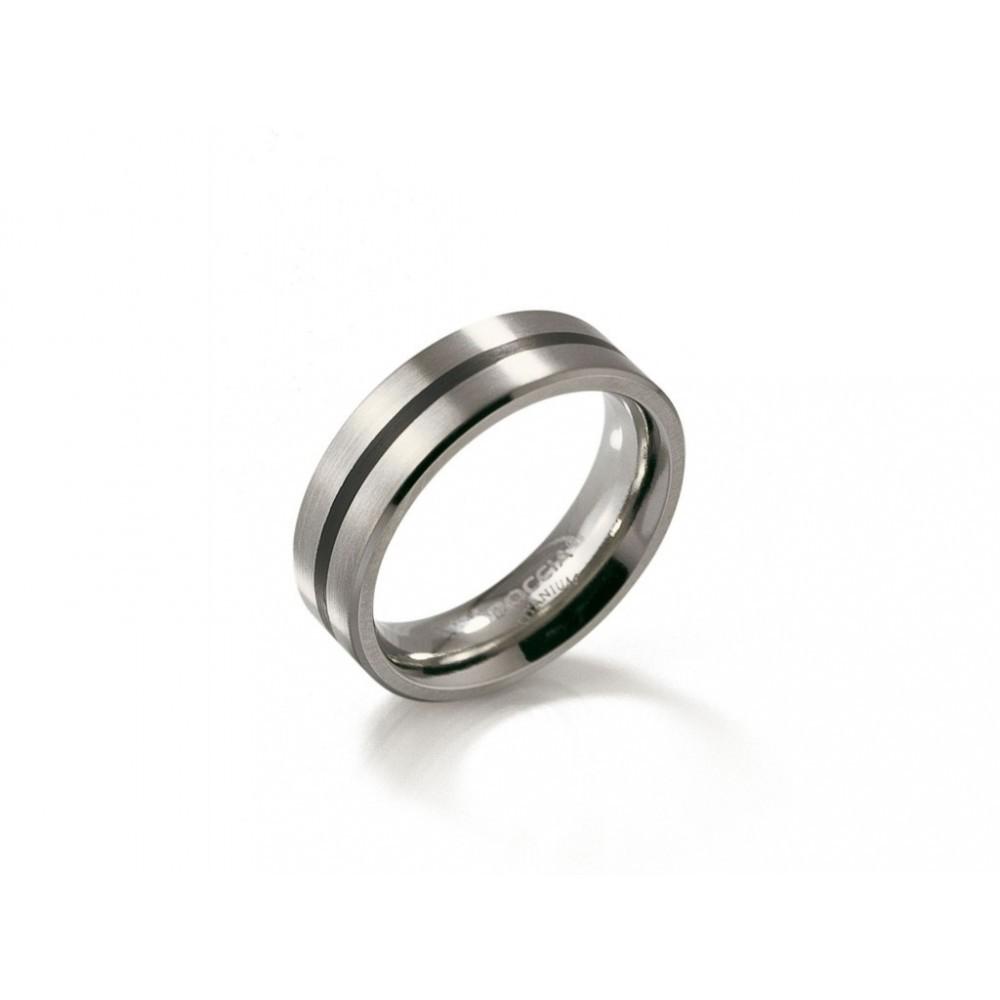 Titanium ring met emaille 0101-14