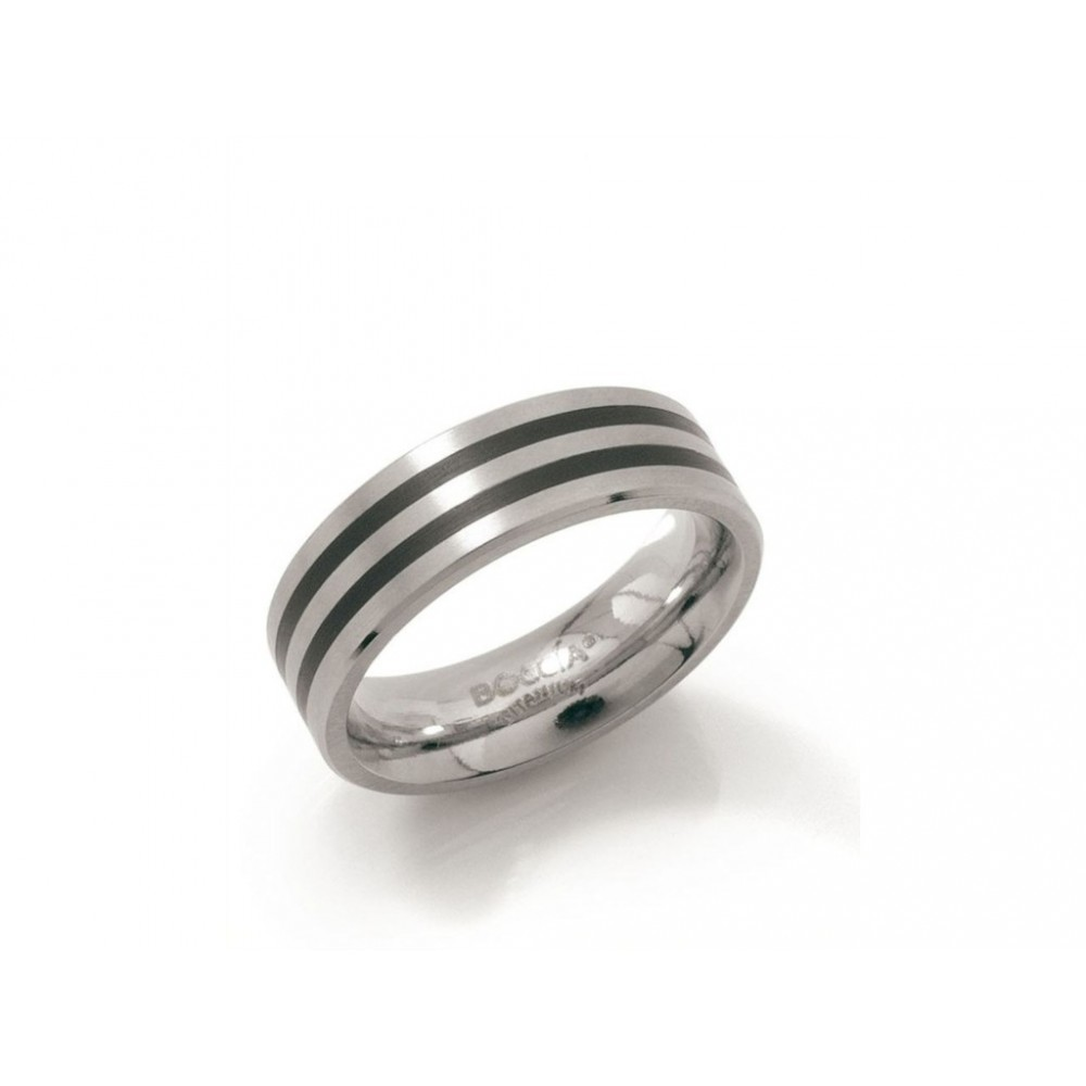 Titanium ring met emaille 0101-17