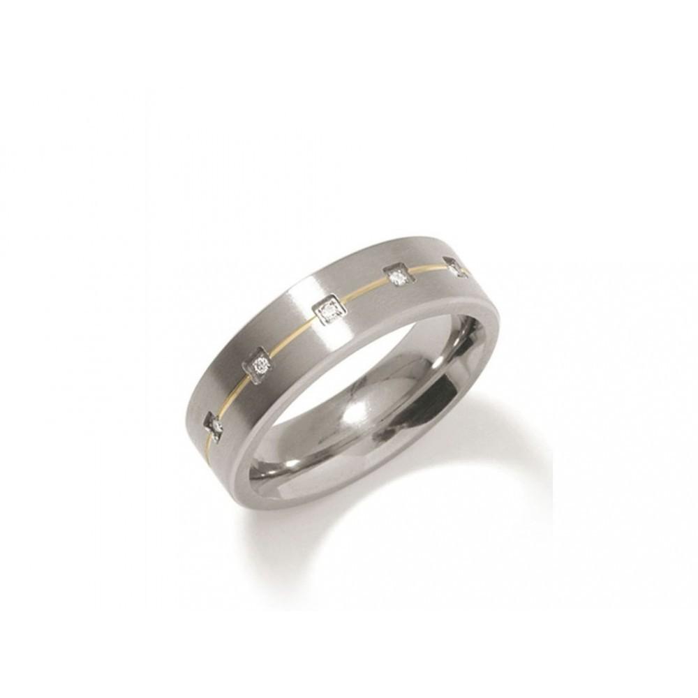 Titanium ring met diamant 0101-19