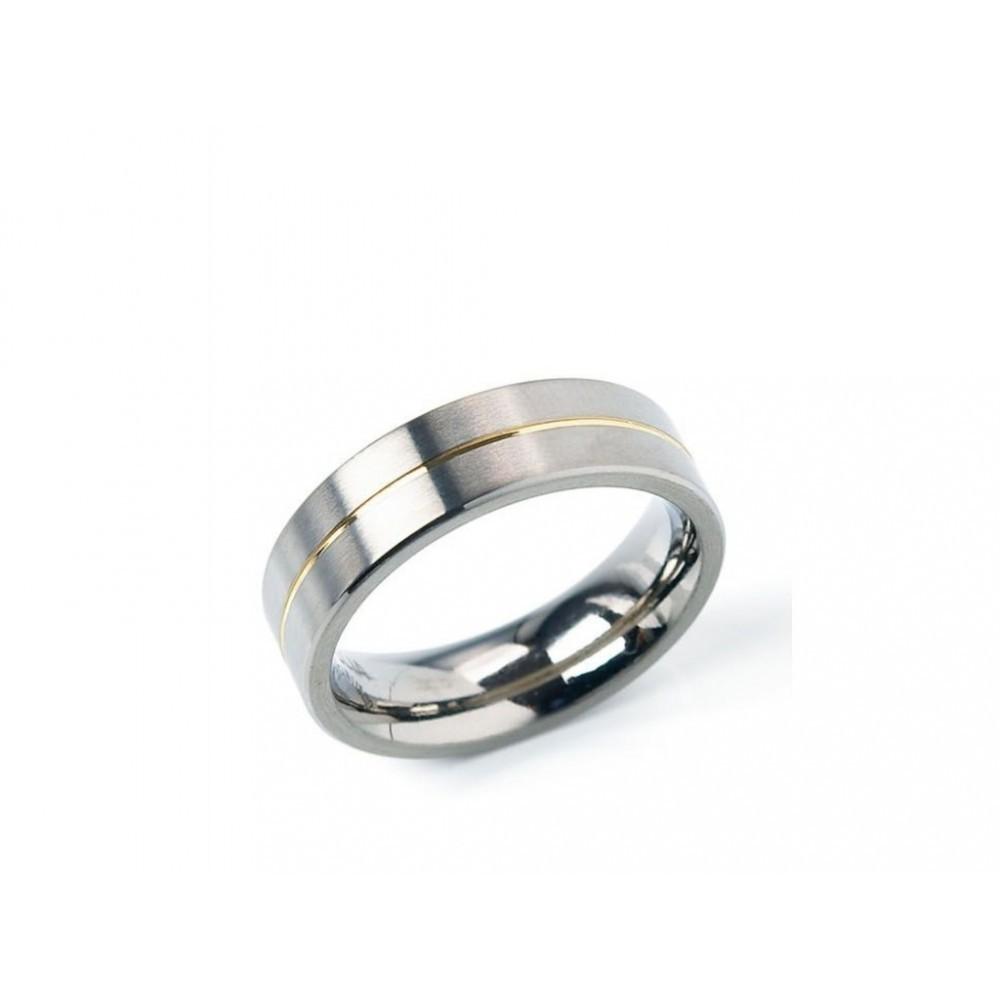 Bicolor titanium ring 0101-21