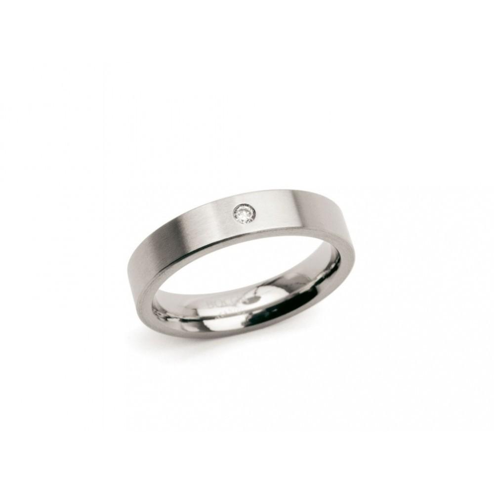 Titanium ring met diamant 0121-04