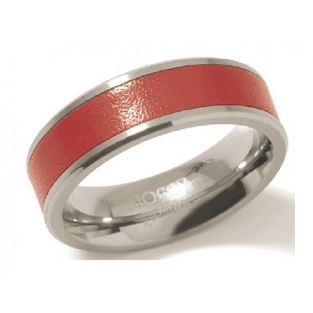 Titanium ring met rode baan 0123-03