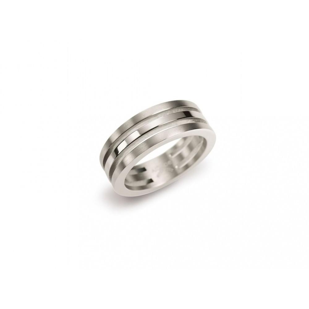 Titanium ring met drie banen 0128-01