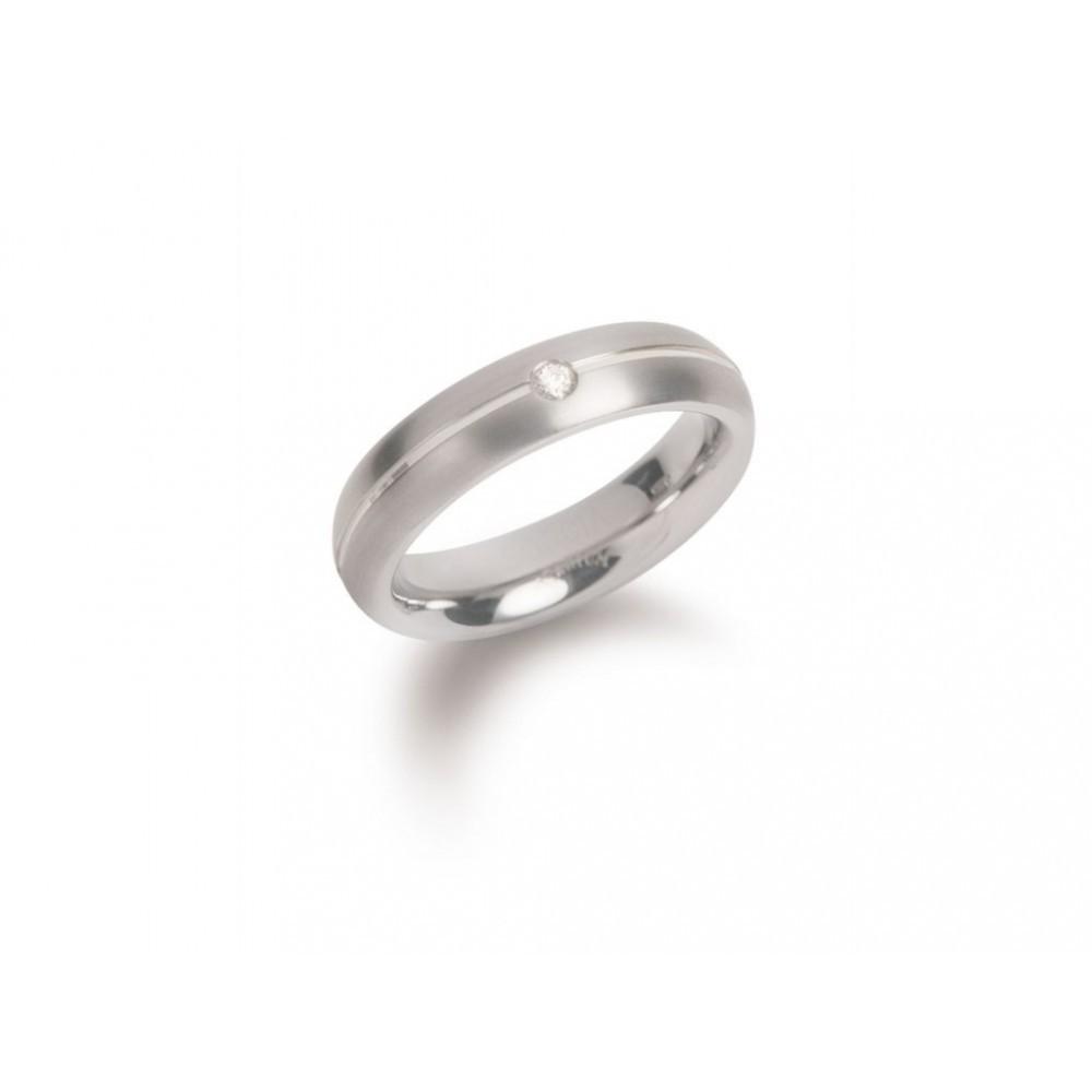 Titanium ring met diamant 0130-05