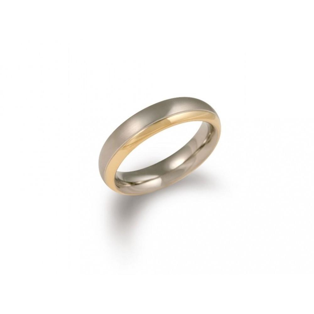 Bicolor titanium ring 0130-08