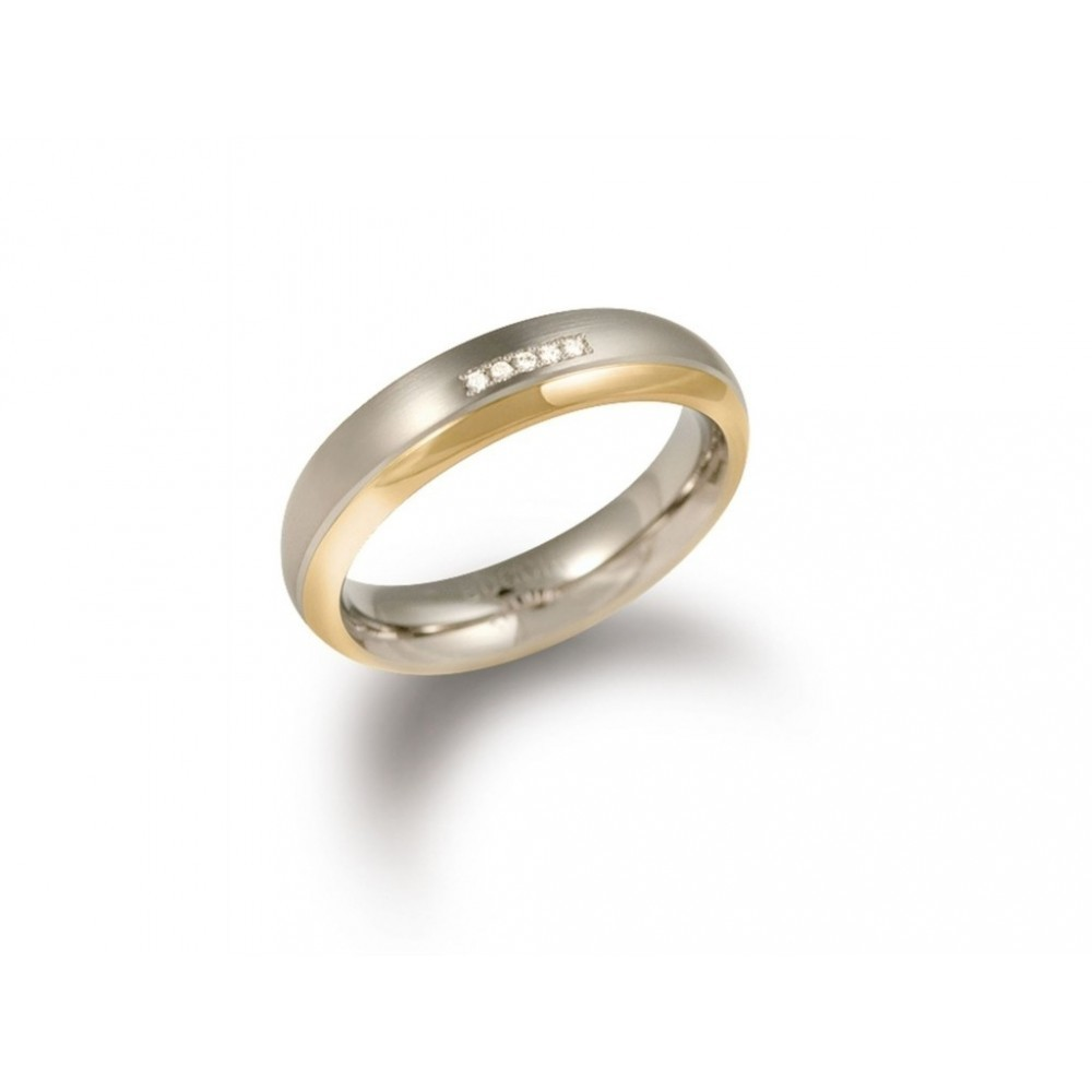 Bicolor ring met diamant 0130-10