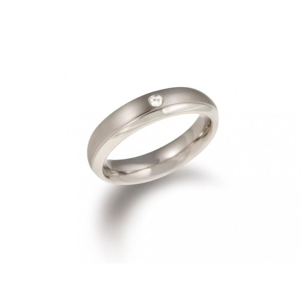 Titanium ring met diamant 0130-11