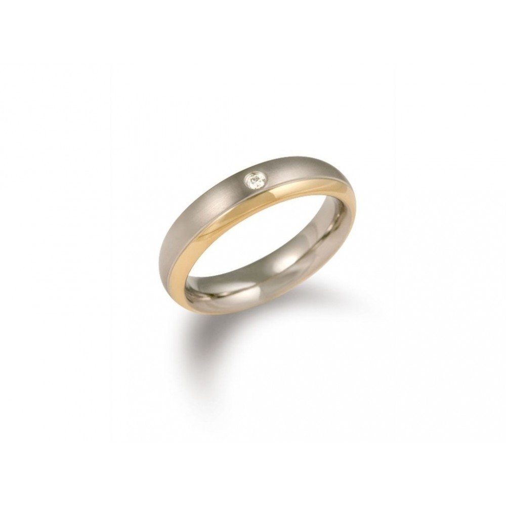 Bicolor ring met diamant 0130-12