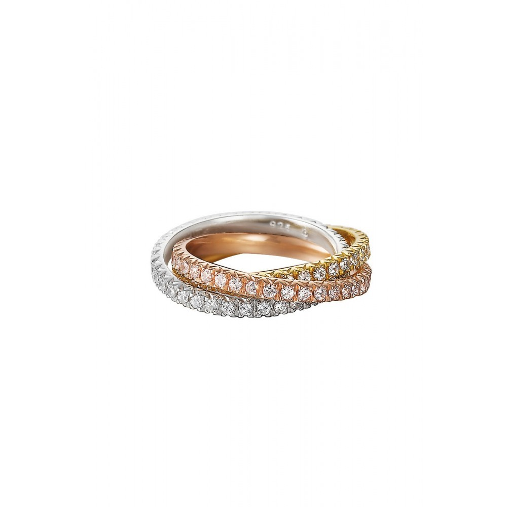 Ring Shinning Brilliance Triple gold ESRG91885A170