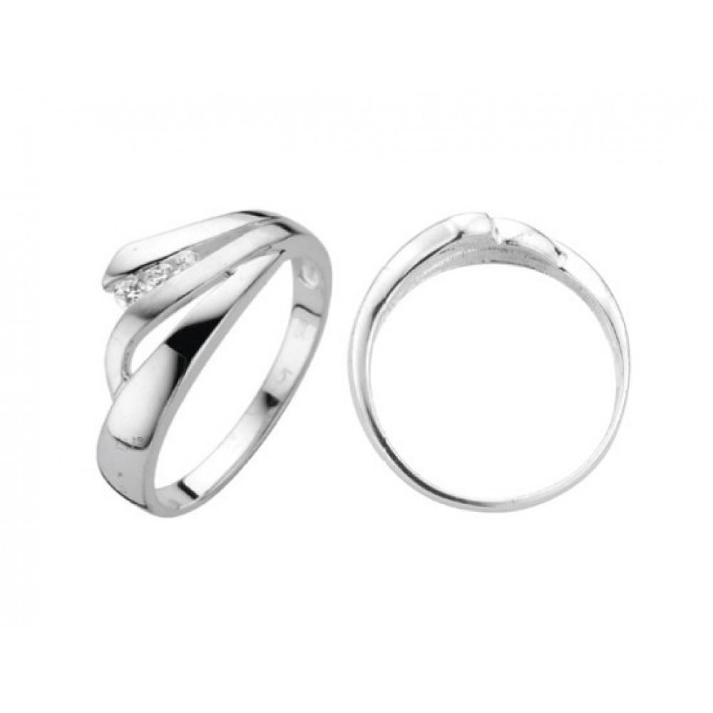 Zilveren damesring met zirkonia 6155605