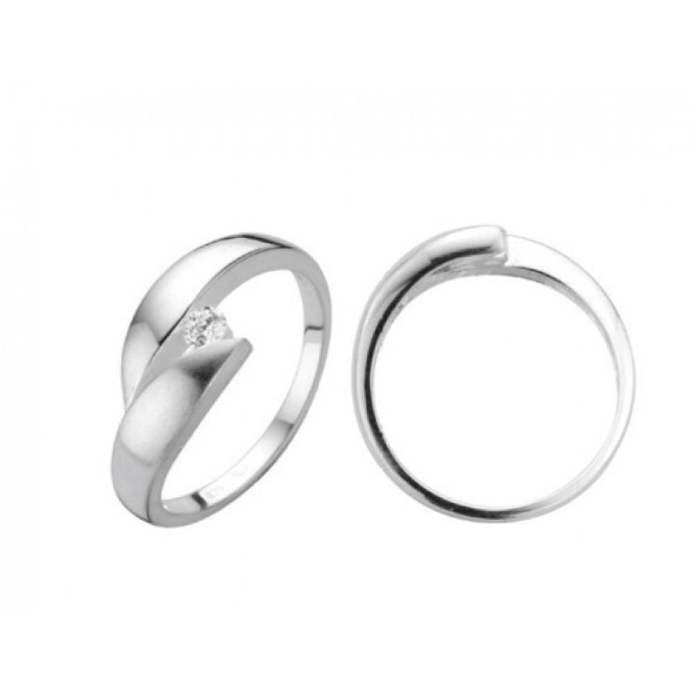 Zilveren damesring met zirkonia 6155606