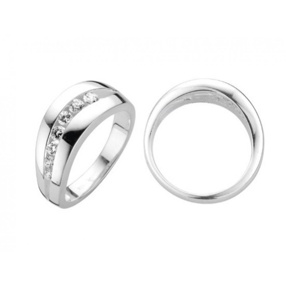 Zilveren damesring met zirkonia 6155609