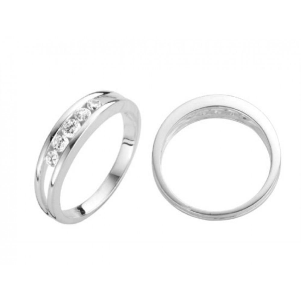 Zilveren damesring met zirkonia 6155610