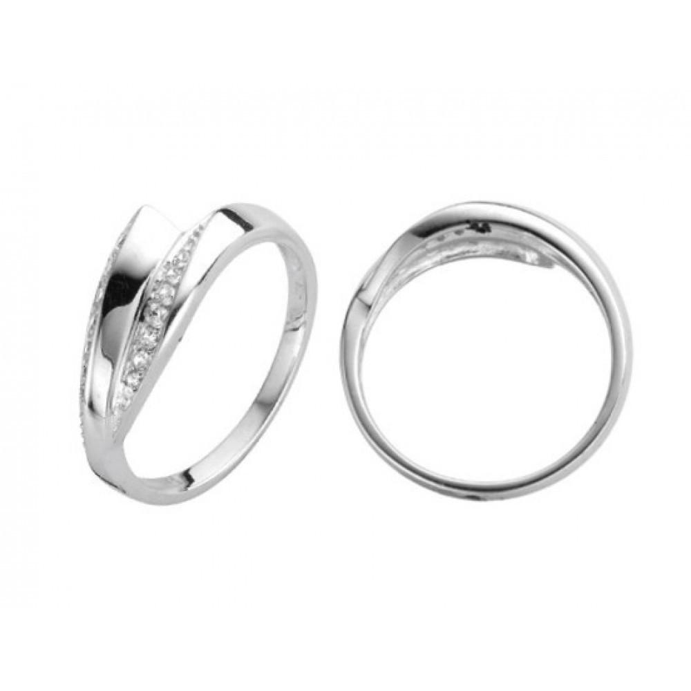 Zilveren damesring met zirkonia 6155642
