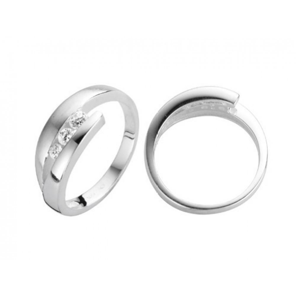 Zilveren damesring met zirkonia 6155643