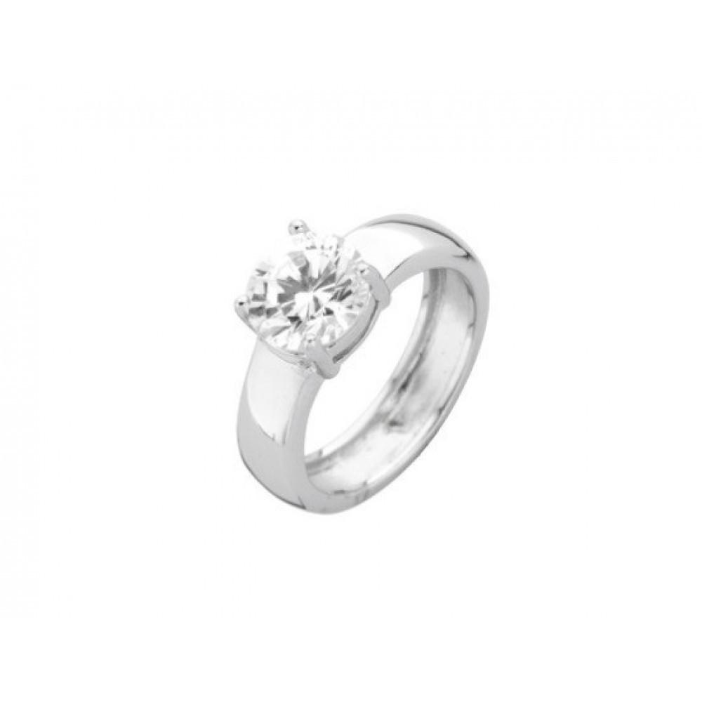Zilveren damesring met zirkonia 6155646