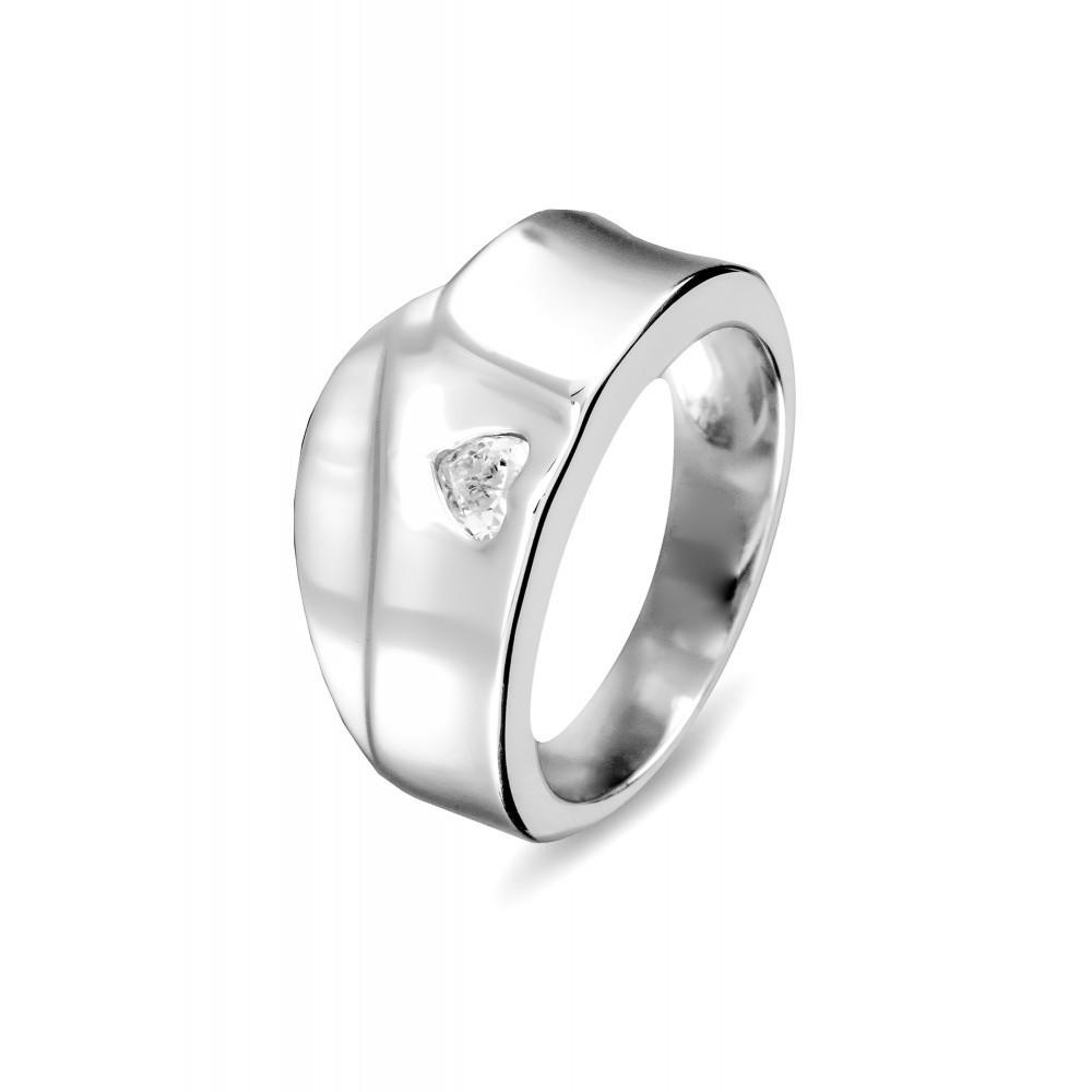Zilveren damesring met zirkonia 625560033