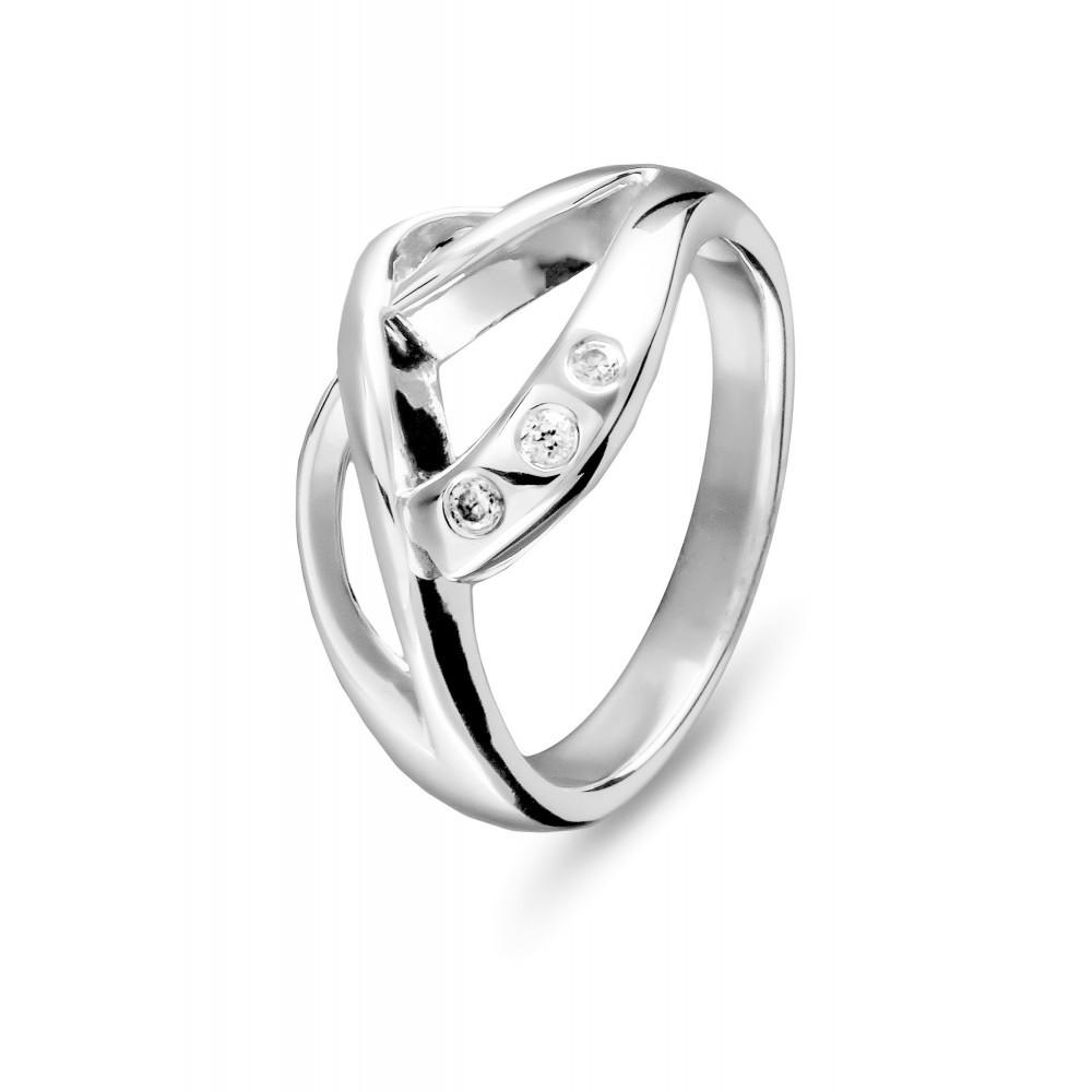 Zilveren damesring met zirkonia 625560043