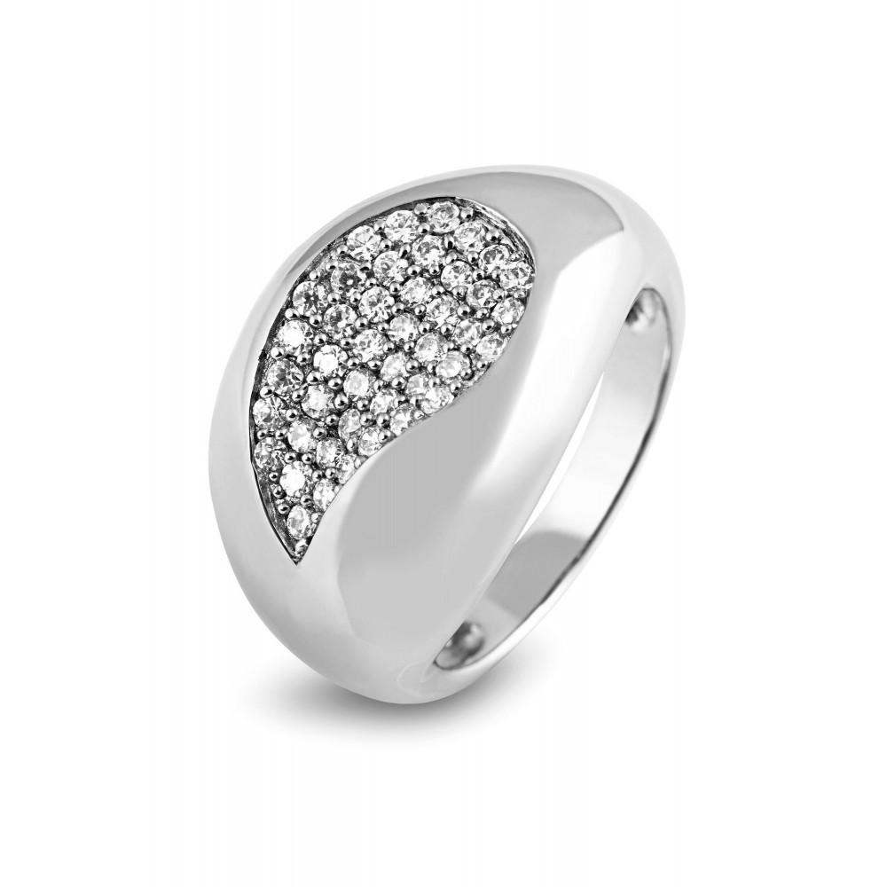 Zilveren damesring met zirkonia 625560062