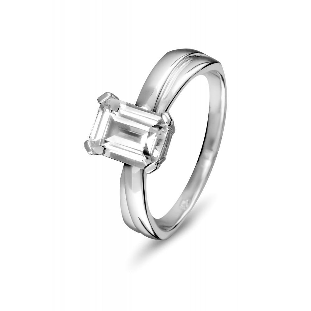 Zilveren damesring met zirkonia 625560064