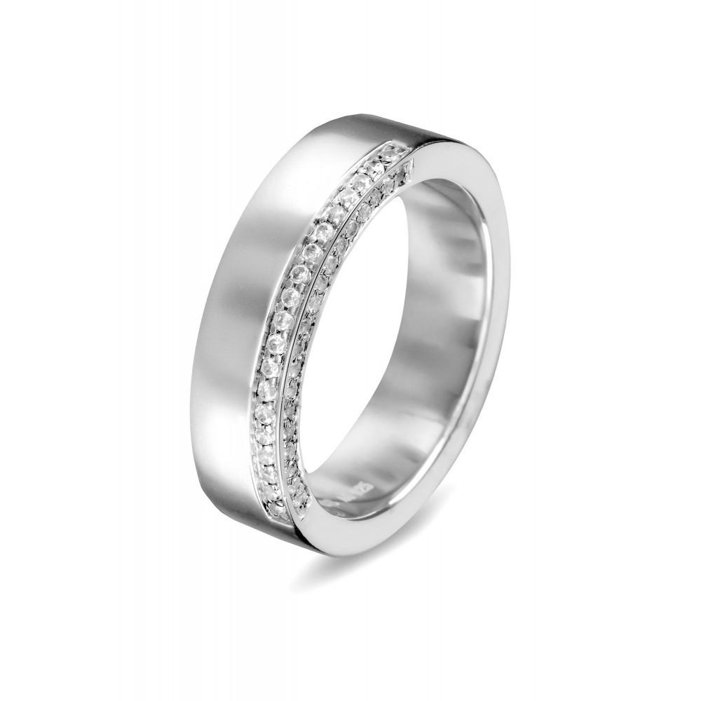 Zilveren damesring met zirkonia 625560085
