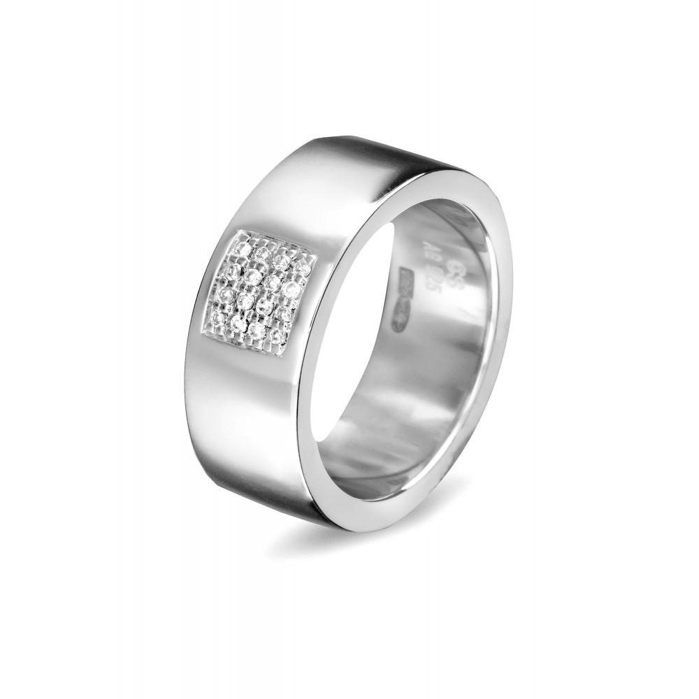 Zilveren damesring met zirkonia 625560089