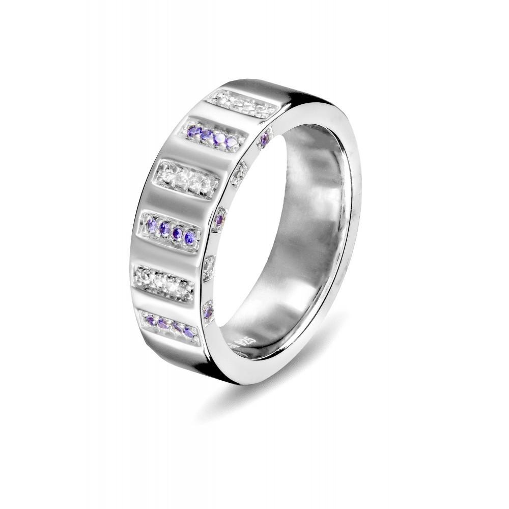 Zilveren damesring met zirkonia 625560094