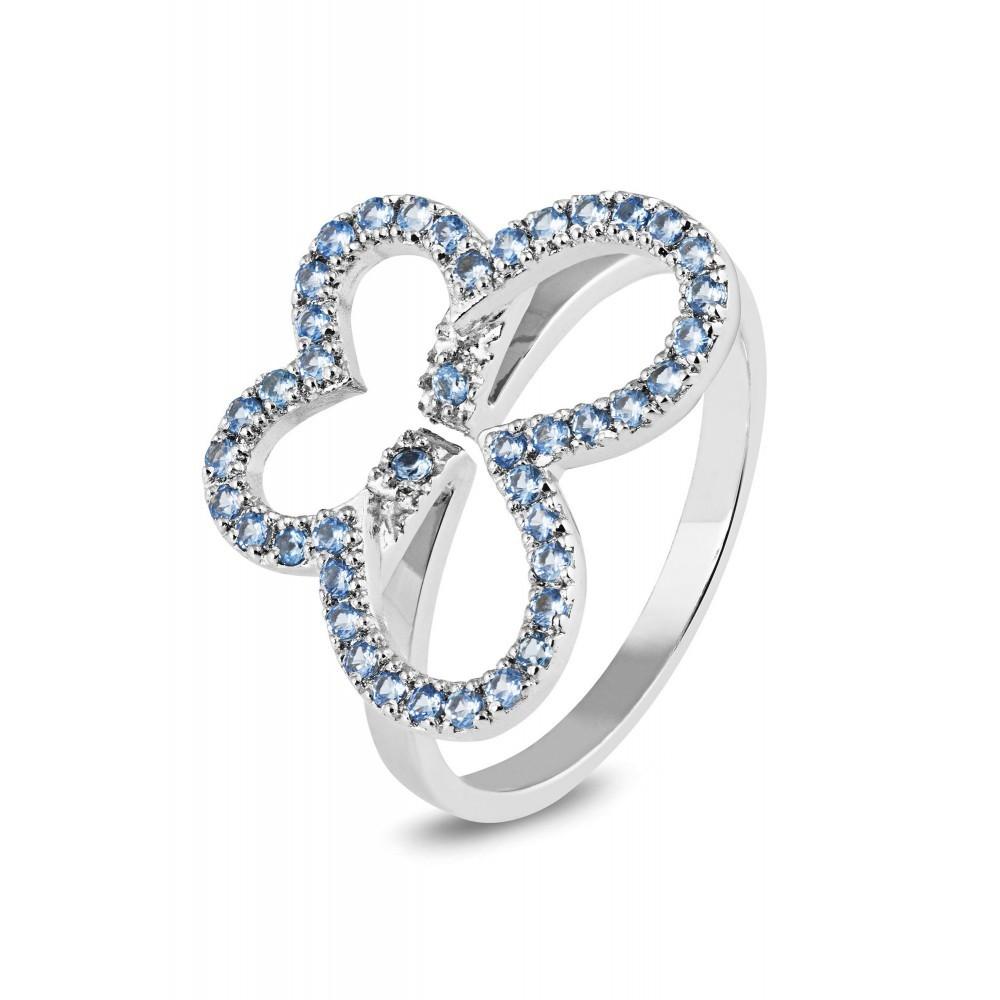 Zilveren damesring met zirkonia 625560131