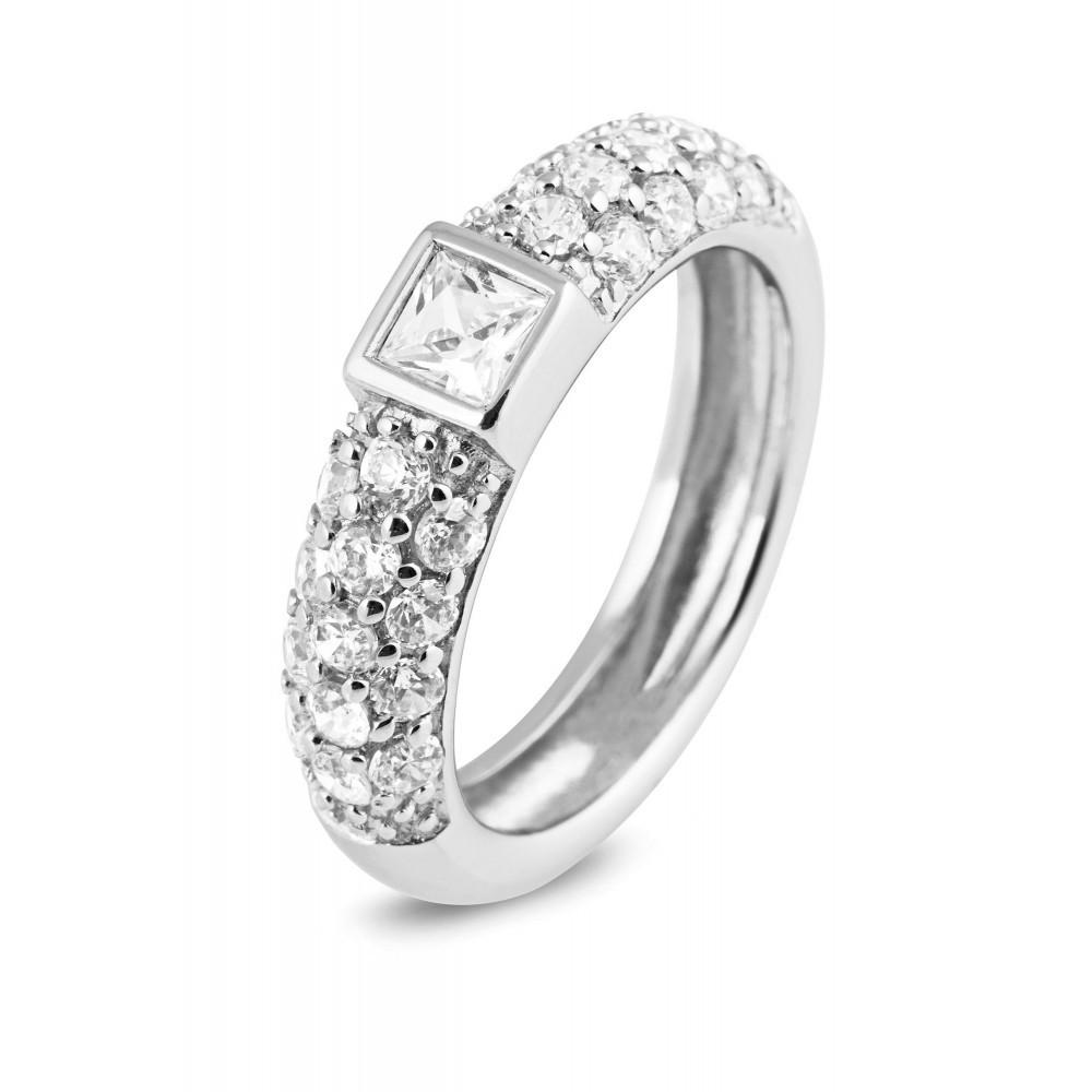 Zilveren damesring met zirkonia 625560135
