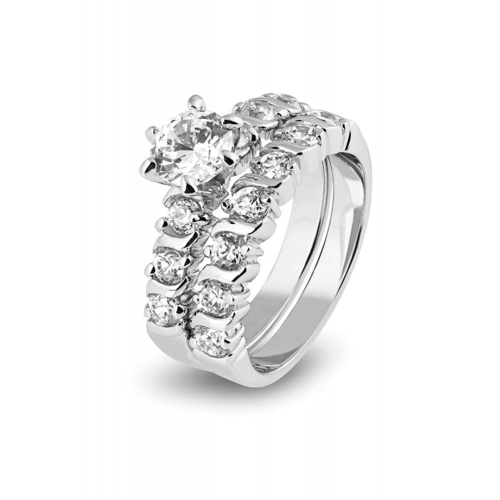 Zilveren damesring met zirkonia 625561012